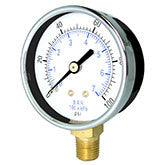PIC - Model 101D - Dry Utility Pressure Gauge, Lower Mount