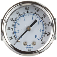 PIC - Model 103D - Dry Utility Pressure Gauge, Center Back Mount with U-Clamp
