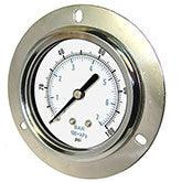 PIC - Model 104D - Dry Utility Gauge, Center Back Mount with Front Flange