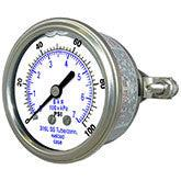 PIC Gauges Model 303LFW /303DFW - All Stainless Steel, Pressure Gauges