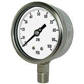 PIC Gauges Model 4001 - Heavy Duty, All Stainless Steel Pressure Gauge