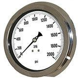 PIC Gauges Model 6004 Heavy Duty, All Stainless Steel, Pressure Gauge
