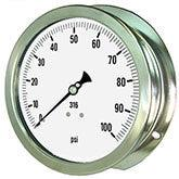 PIC Gauges Model 6009 Heavy Duty, All Stainless Steel, Pressure Gauge