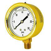 PIC - Model 601L - Forged Brass, Liquid Filled, Pressure Gauge