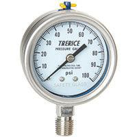 Trerice - 700SS / 700LFSS Pressure Gauge (SS Internals, Lower Mount)