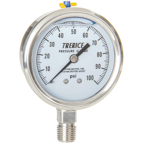 Trerice - D83 Pressure Gauge (Dry or Liquid Filled, Lower Connection)