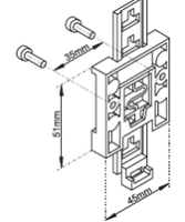 E+E Elektronik -  Bracket for DIN-Rail Mounting  (P/N: HA010203)