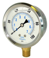 PIC Gauges Model PRO-201L - Liquid Filled Pressure Gauge