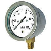 PIC - Model LP1-SB - Low Pressure Gauge, Stainless Steel Case, Lower Mount