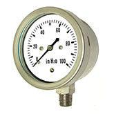 PIC - Model LP1-SS - Stainless Steel, Low Pressure Gauge, Lower Mount