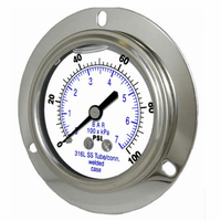 PIC Gauges Model 304LFW - All Stainless Steel, Pressure Gauges