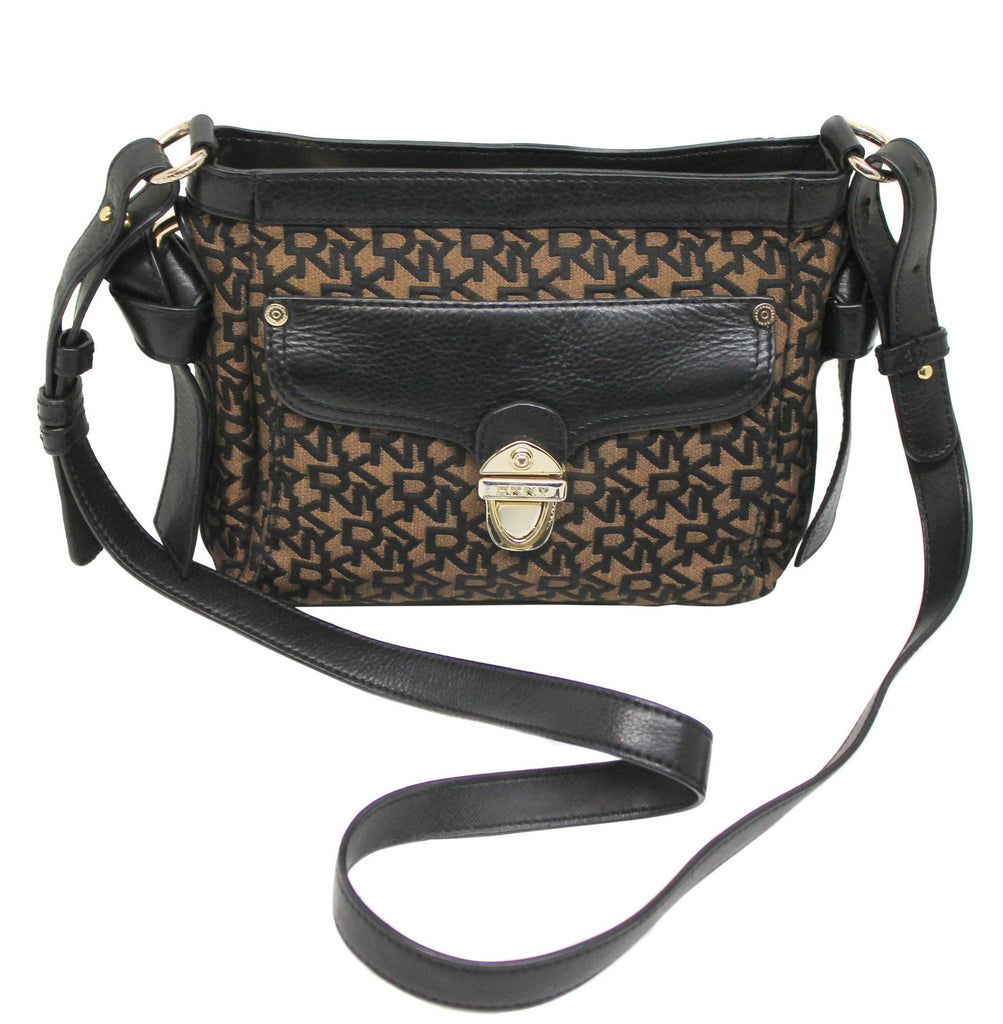 049d318d49 DKNY Black and Brown Crossbody Bag – The Live Wardrobe