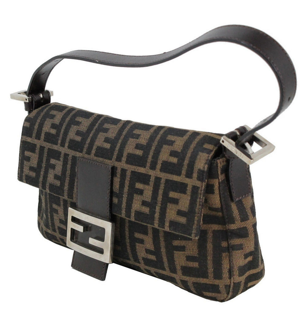 780e24da9a Fendi Zucca Baguette Canvas Bag – The Live Wardrobe