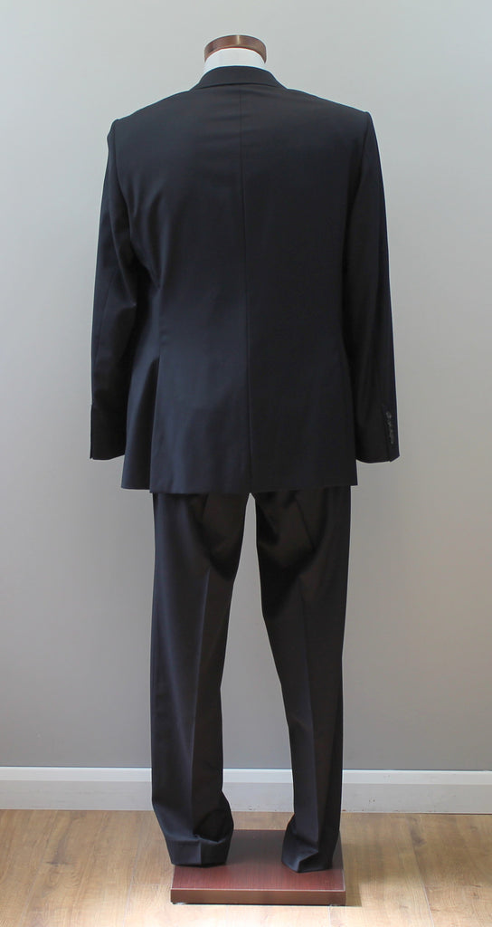 bdc7766b8 Hugo Boss Selection Guabello Super 150 Navy Wool Suit Label Size 50 ...