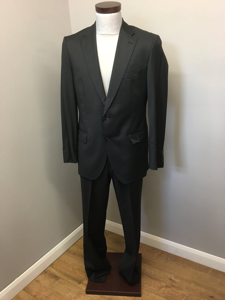 """60aa2e75c Hugo Boss Tailored Pinstriped Suit Chest 39.3"""", Trousers W36"""