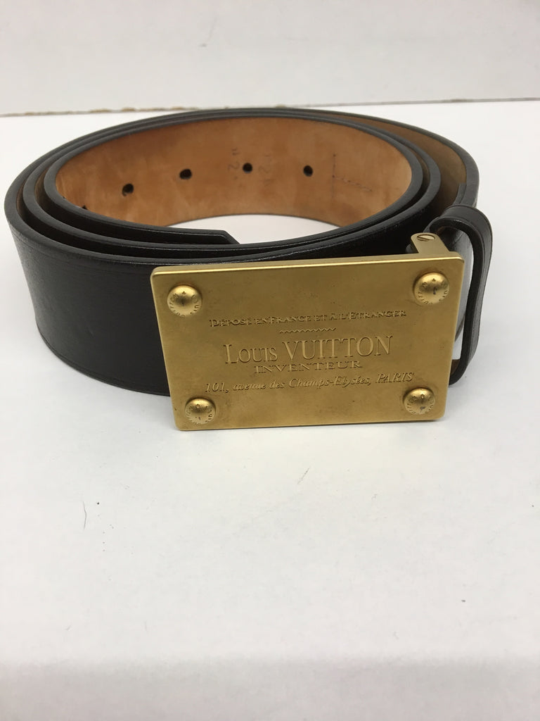 d1a5e377f402 Louis Vuitton Leather Belt Size 100   40 – The Live Wardrobe