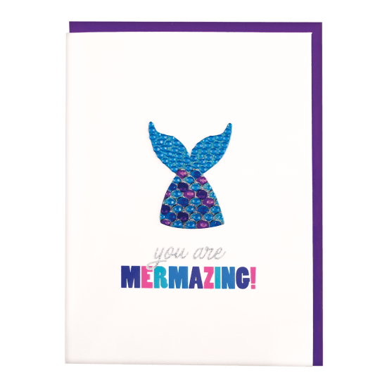 iScream - Mermaid Rhinestone Decal Card