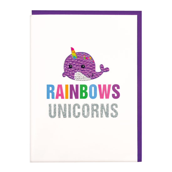 iScream - Narwhal Rhinestone Decal Card