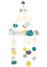 Blabla Kids - Pom Pom Mobile Blue/Green