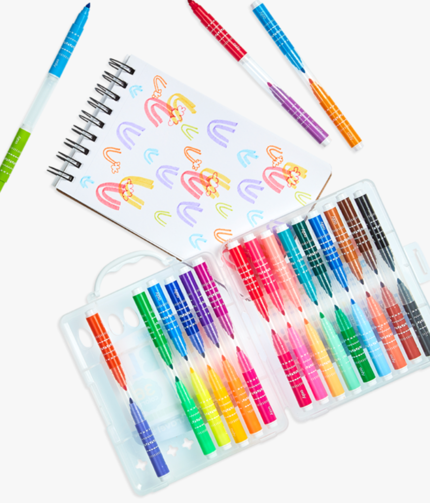 Ooly- Double Up! 2-in-1 Mini Markers - Set of 36