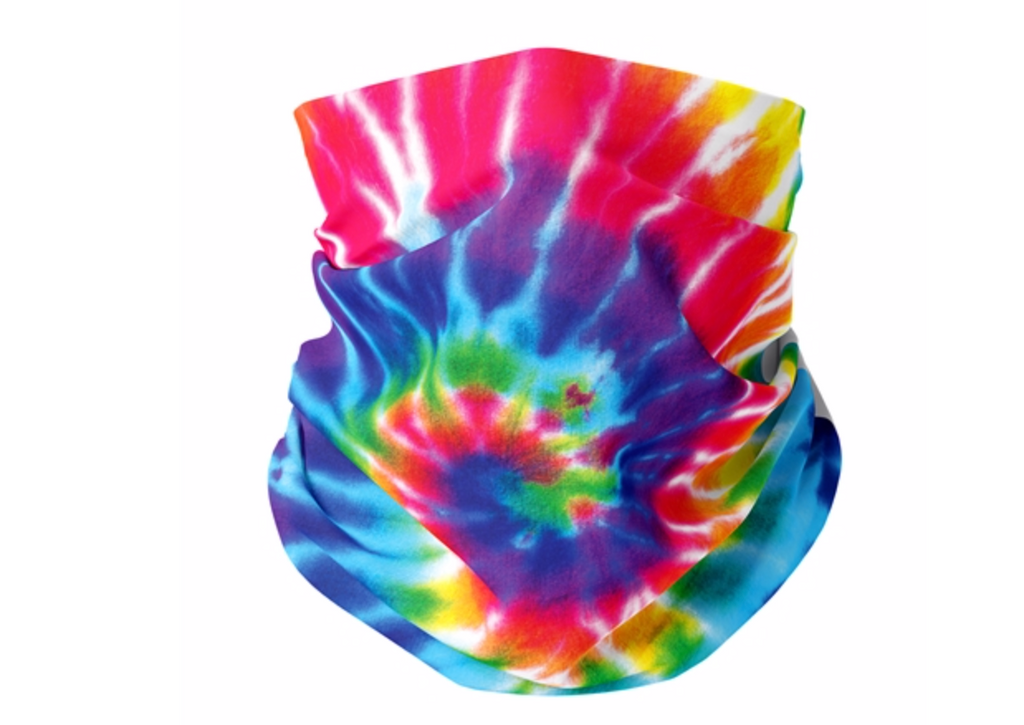 Top Trenz- Primary Tie Dye Gaiter Mask