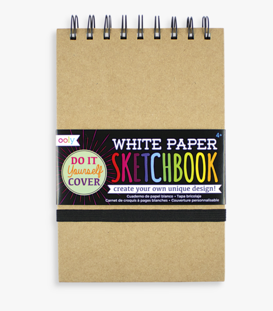 Ooly- White DIY Cover Sketchbook Mini