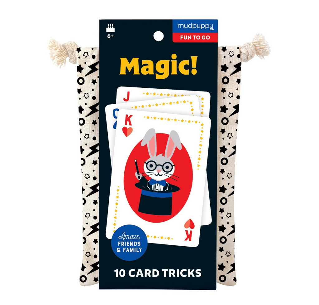 Hachette- Mudpuppy Magic! Playing Cards To- Go