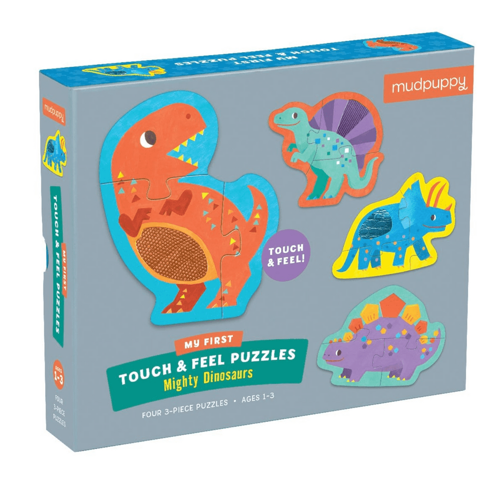 Hachette- Mudpuppy Mighty Dinosaurs My First Touch & Feel Puzzle