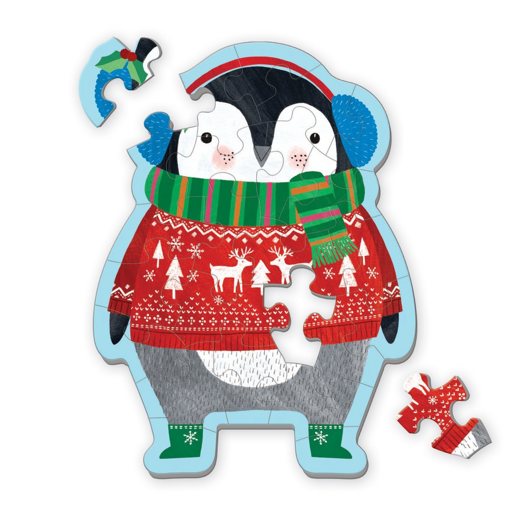Hachette- Mudpuppy Winter Penguin Shaped Mini Puzzle