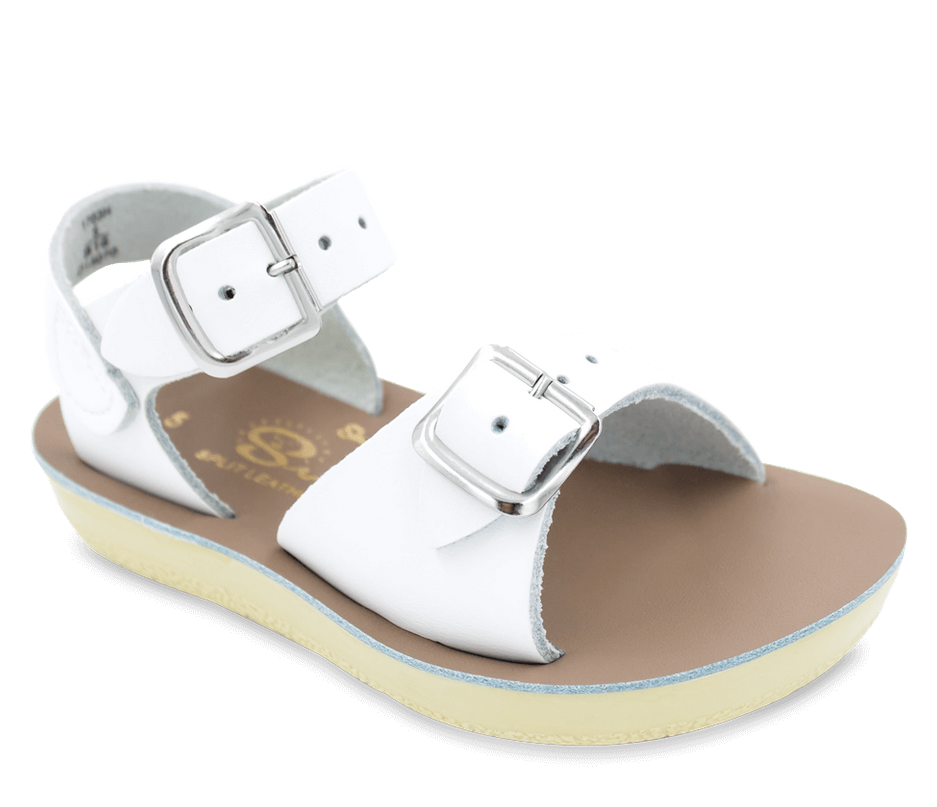 Salt-Water Sandals - The Sun San Sea Wee: White
