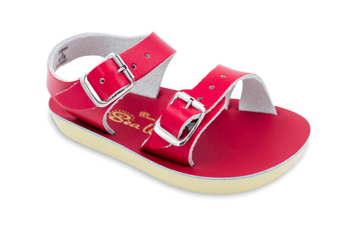 Salt-Water Sandals - The Sun San Sea Wee - Red