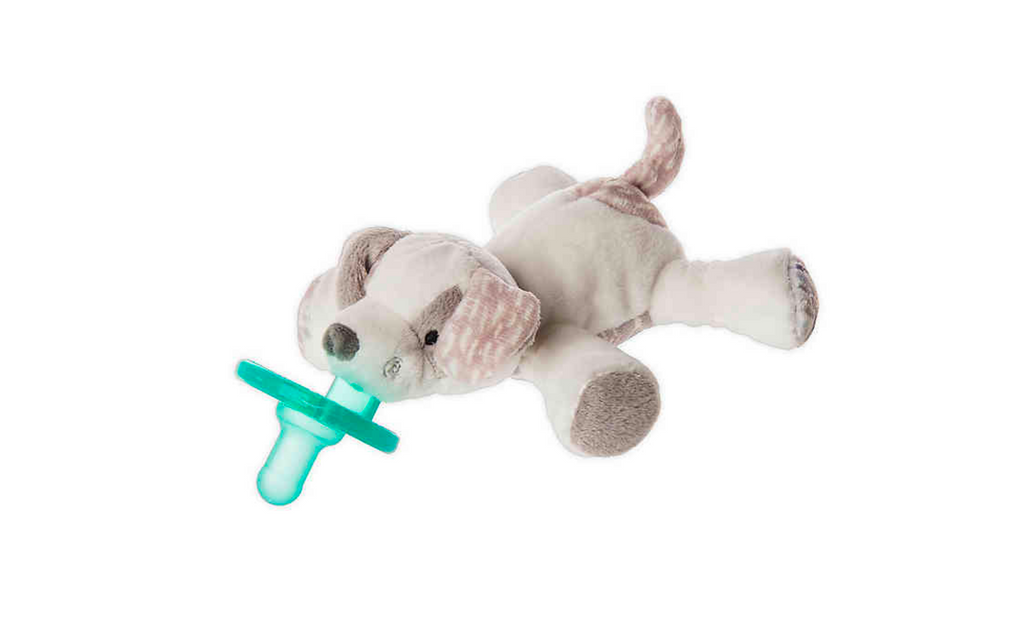 Mary Meyer - WubbaNub™ Puppy Infant Pacifier in White/Grey