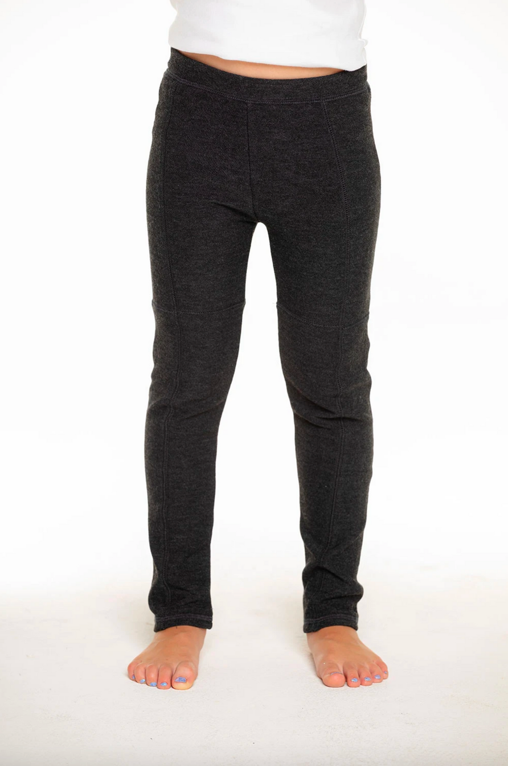 Chaser - Cozy Knit Seamed Panel Legging in Black