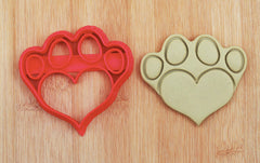 Heart Shaped Paw Cookie