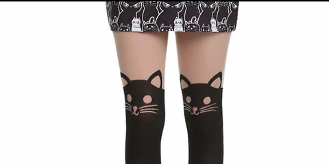 Hot Topic cat stockings cat lady gift