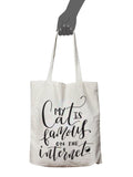 Famous On the Internet Canvas Tote