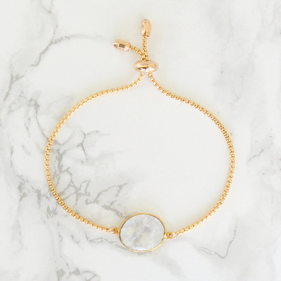 Rainbow Moonstone Bracelet, Moonstone Bracelet, White Gemstone bracelet, June Birthstone Bracelet, Adjustable bracelet, Bridesmaid Gift