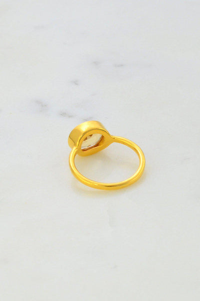 Citrine Ring - Oval Ring - Bezel set ring - November Birthstone Ring - Gemstone Ring - Stacking Ring - Gold Ring - Bridesmaid Ring