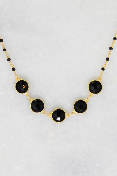 Black Onyx Necklace - Mothers Day Gift - July Birthstone - Mom Necklace - Statement Necklace - Handmade Necklace - Black Necklace