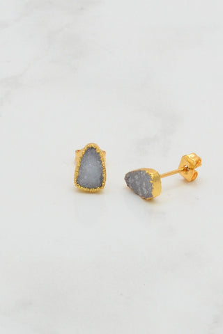 Druzy Studs - Post Earrings - Bridesmaid studs - Bridesmaid gifts - Gift for Mom - Gift for mother - Stone stud earrings - Gems studs