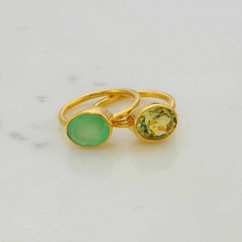 Gems Ring - Gemstone rings - Gemstone Ring - Stackable Ring - Gold Ring - Oval Ring - Gemstone Ring - Bridesmaid ring