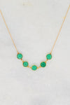 Emerald Necklace - Green Emerald Onyx - Nana Necklace - Gift for mom - Mommy Necklace - Mother's Necklace - Bridesmaid Gift