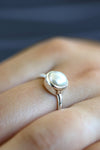 Pearl ring, Freshwater round pearl