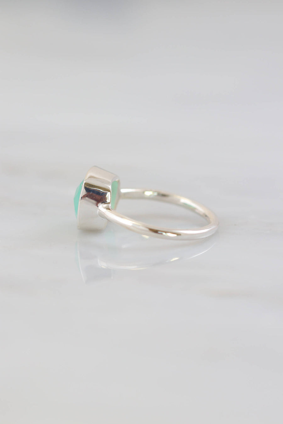 Aqua Chalcedony Ring, Cushion stackable rings, Chalcedony Ring, Everyday Ring, Gemstone Rings, 925 Silver Rings, Brides Gift, Elegant rings