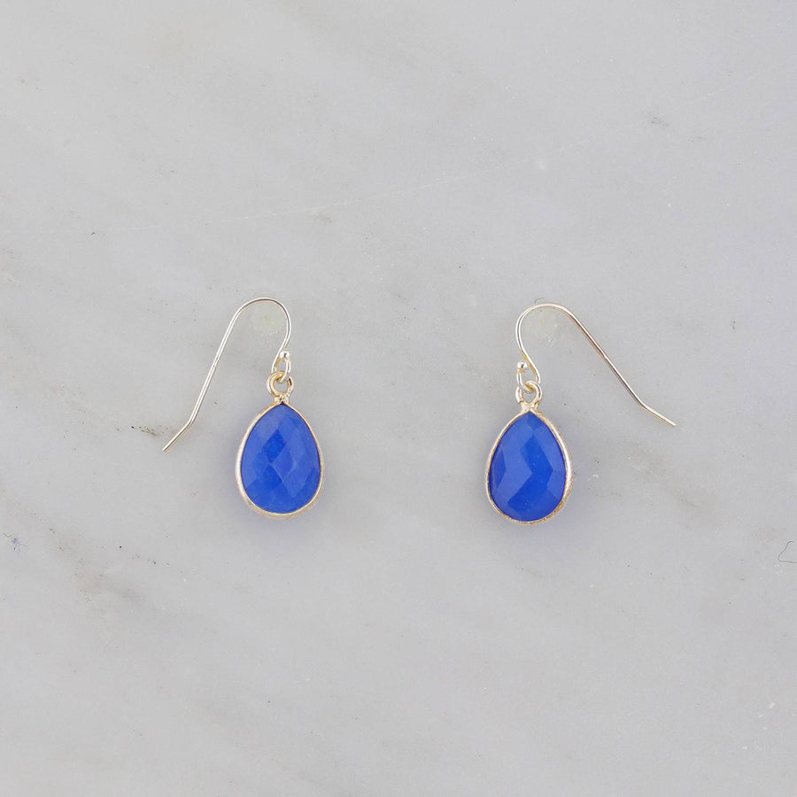 Sapphire Earring, Sterling Silver Earring, Small Gemstone Earring, September Birthstone Earring, Silver Ear Wires, Blue Gemstone Earring