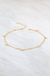 Freshwater Pearl Choker Necklace, Gold Choker, Christmas Gift for her, Designer Necklace. Modern Choker, Tiny Pearl Choker, Layering Choker