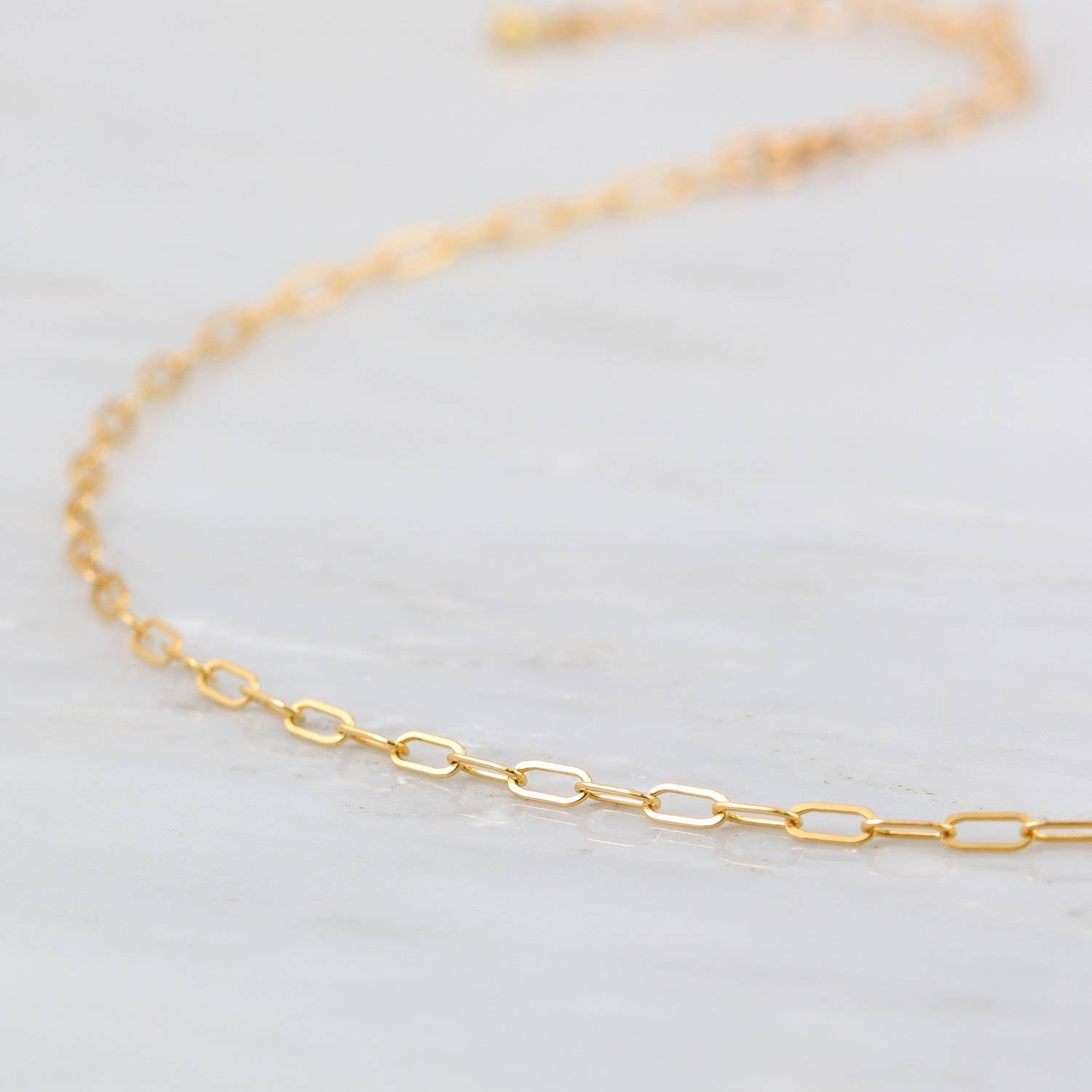 Paperclip Necklace, Delicate Gold Choker, Chain Choker Necklace, Chain Choker Necklace, Minimalist Choker, Gold Filled Choker Chain