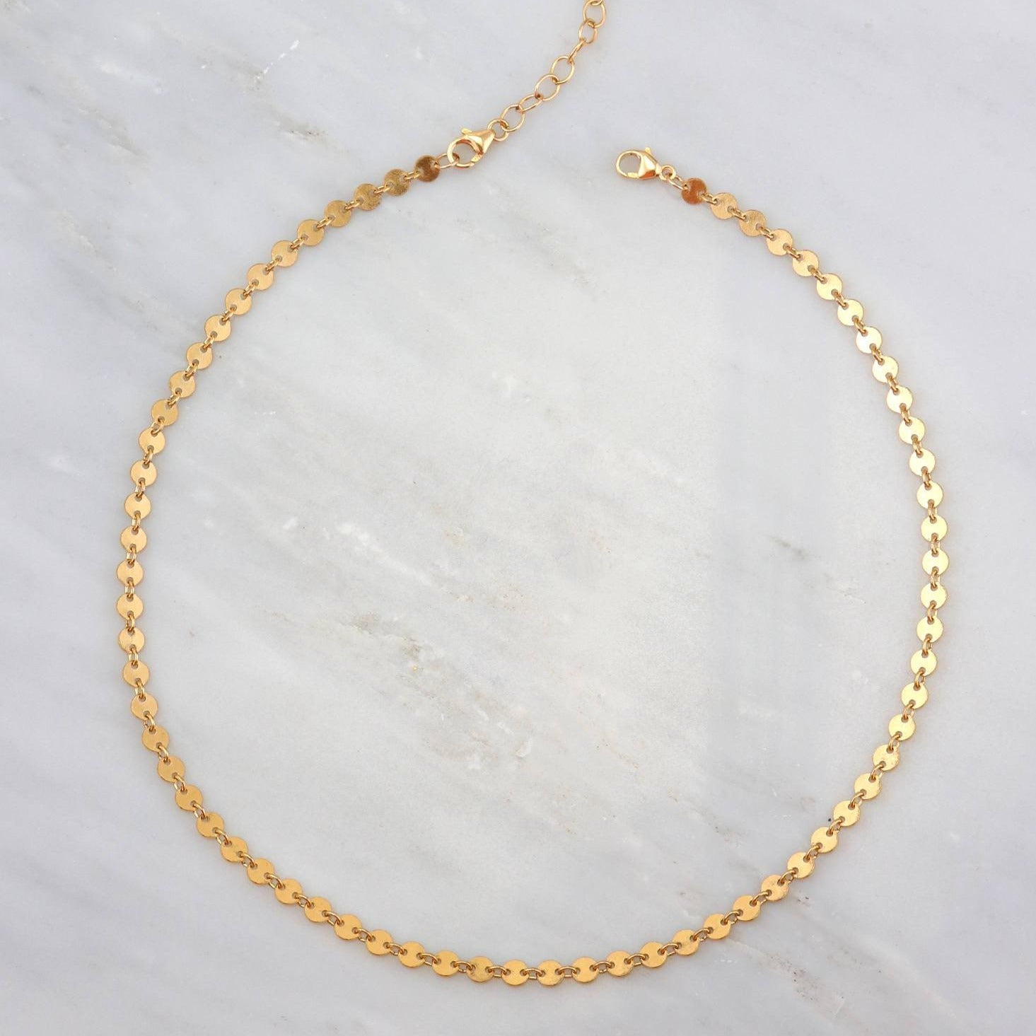 Choker Necklace, Coin Disc Choker Necklace, Gold Choker, Chain Choker, Bohemian Choker, Coin Tattoo Choker, Girlfriend Gift, Gift for her