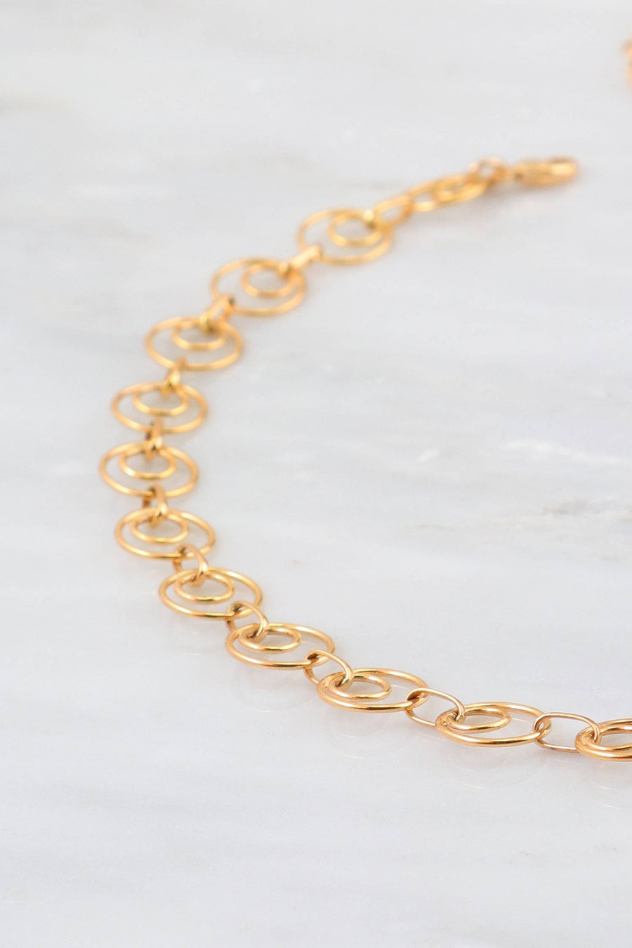 Gold Choker, Choker for Women's, Statement choker Necklace, 14k Gold Filled Choker, Circle Link Necklace, Modern Choker, Women's Necklace