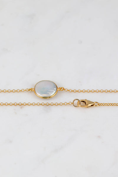 Freshwater Pearl Necklace, Gold Pearl Necklace, Gold Filled Necklace, Summer Necklace, Long Pearl Necklace, Round Pearl Bezel set necklace